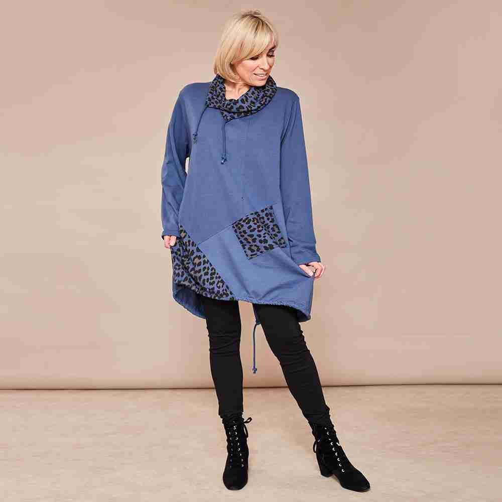 Natalie Jersey Tunic(Blue)