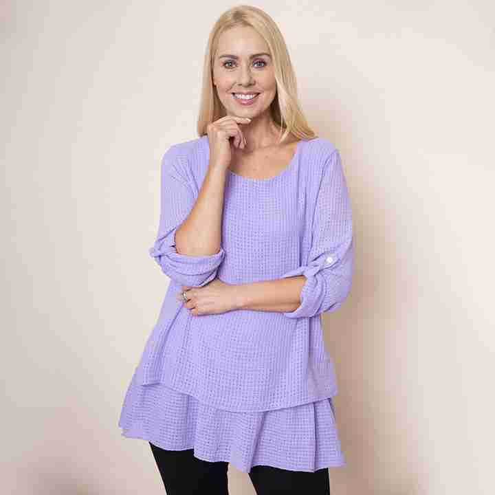 Trelis Frill Layered Top(Lilac)
