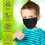 Kids Face Mask Cloth Fabric Washable Masks - Earloop Dust Proof Covering - Fabric PM Pollution Protection - Reusable Facial Protective Cover - Pack of 3