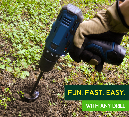 The Drill Planter is fun, fast, and easy to use