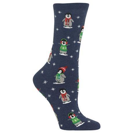Gabby Maria Women's Penguin Crew Socks