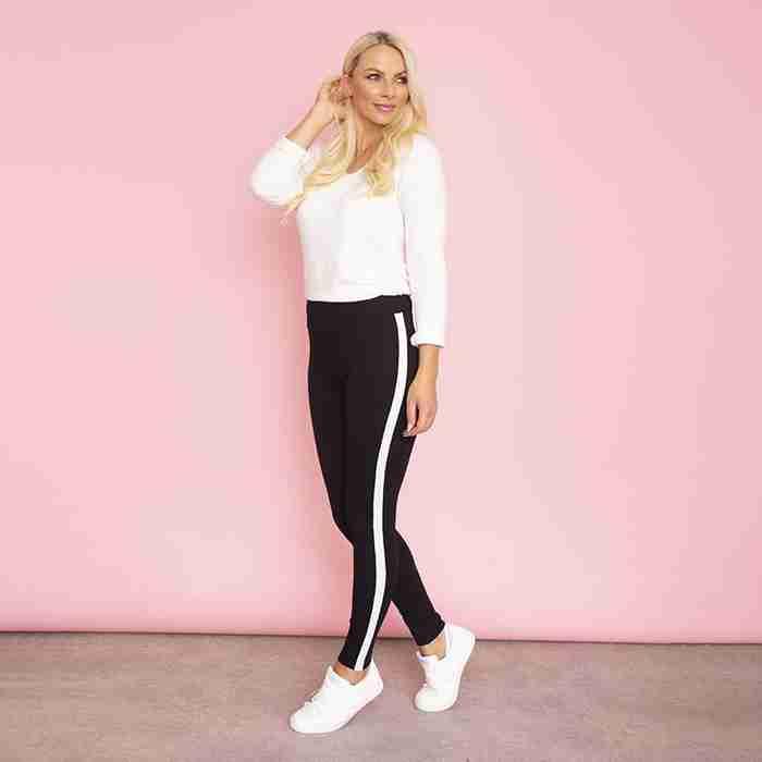 Bonnie Spandex Legging (White Stripe)