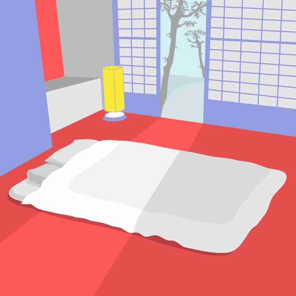 Futons or Shikibutons (the traditional Japanese name) are soft yet firm rectangular cushions that are designed to be slim and easily foldable.