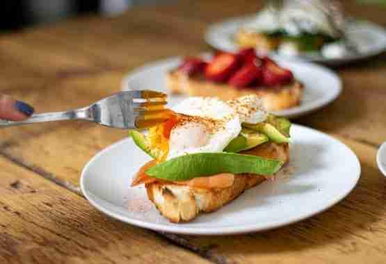 Poached Eggs on Toast Avocado
