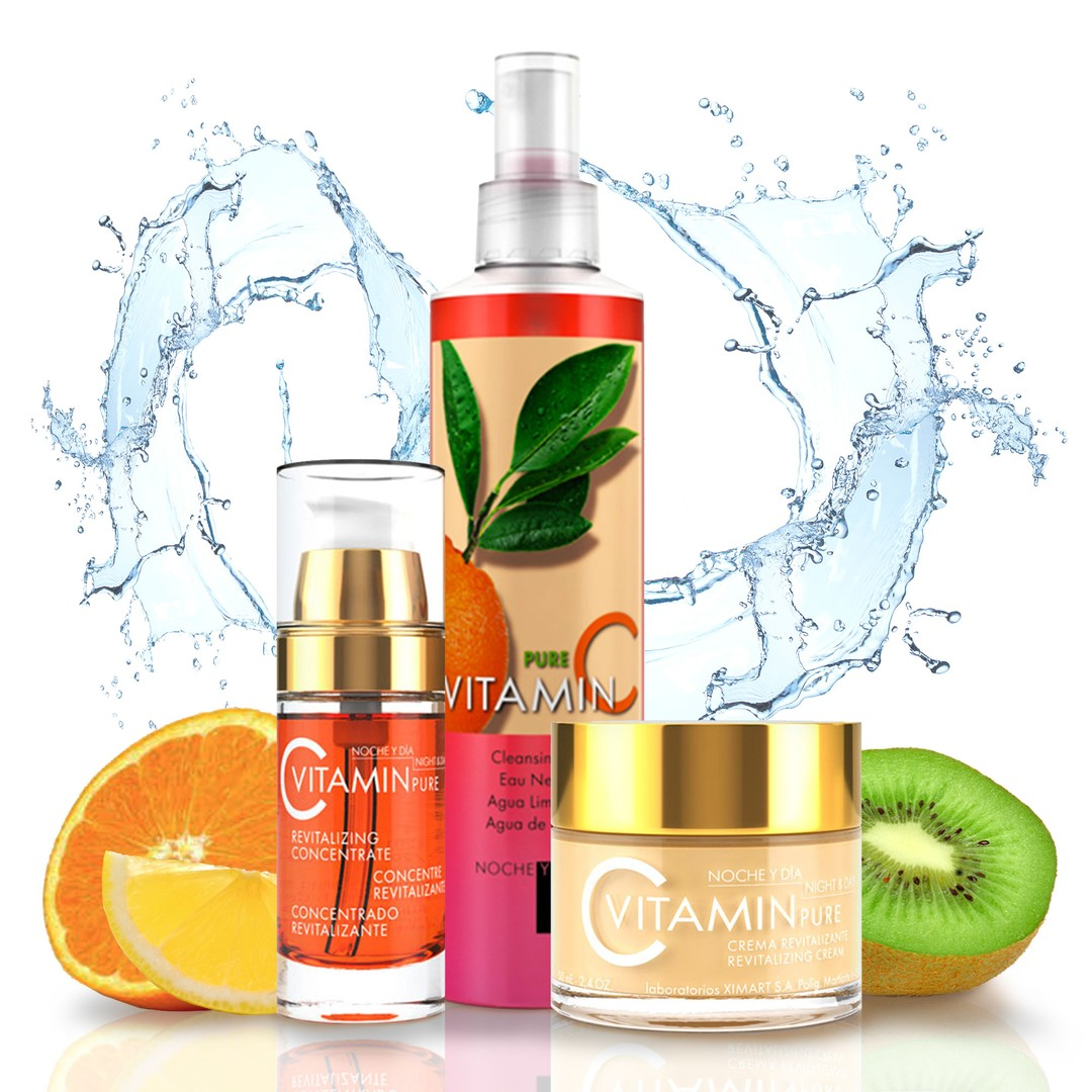 Pictured is the 3-Step Vitamin C System by Noche Y Dia Skincare.