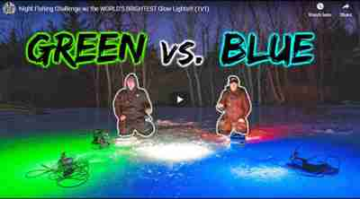 ice fishing with underwater LED lights