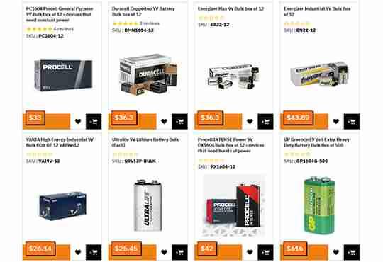 Bulk 9V Batteries Information