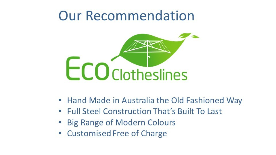 eco clotheslines are the recommended clothesline for 0.6m wall size