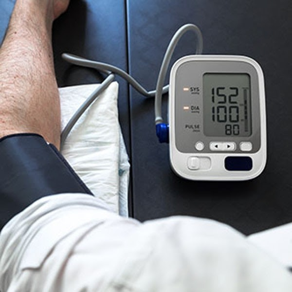 Blood Pressure Monitor Arm on Table