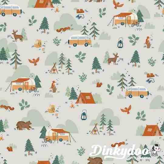 camp woodland fabric