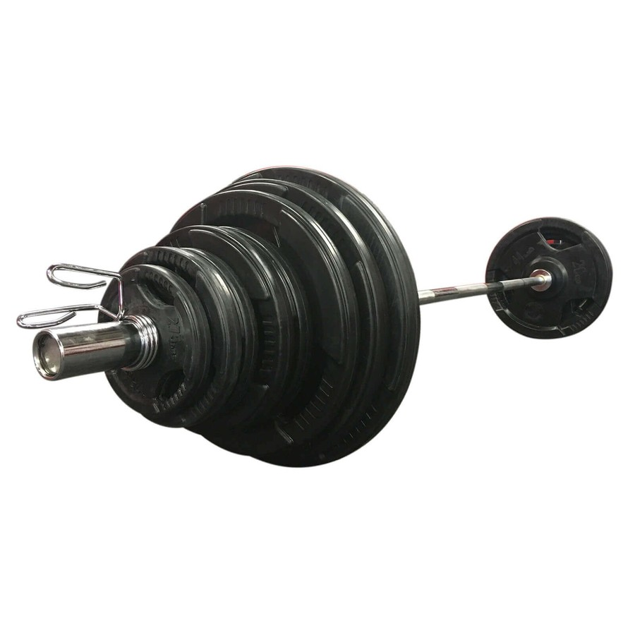 140KG Strengthmax Rubber Olympic Set