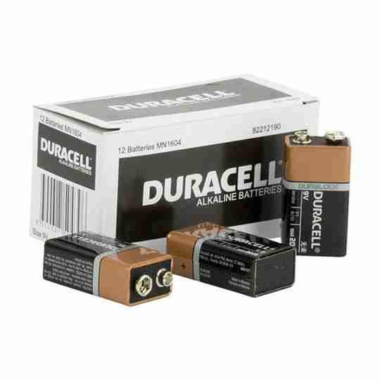 Duracell Coppertop 9V Battery Bulk box of 12
