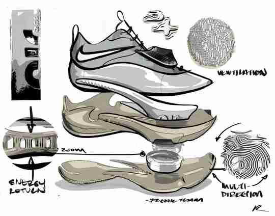 Nike Zoom Freak 3 Sketch