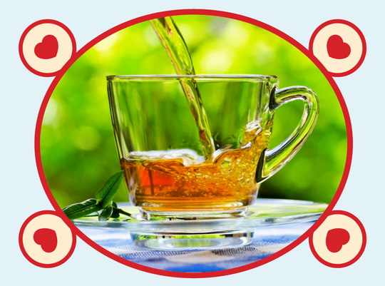 rooibos rocks pouring red tea