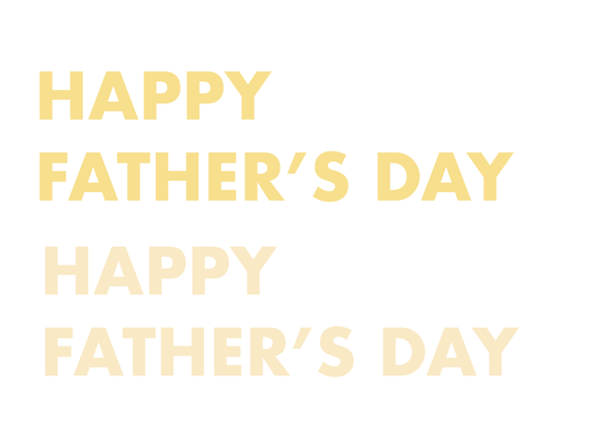 Father's Day lettering text font