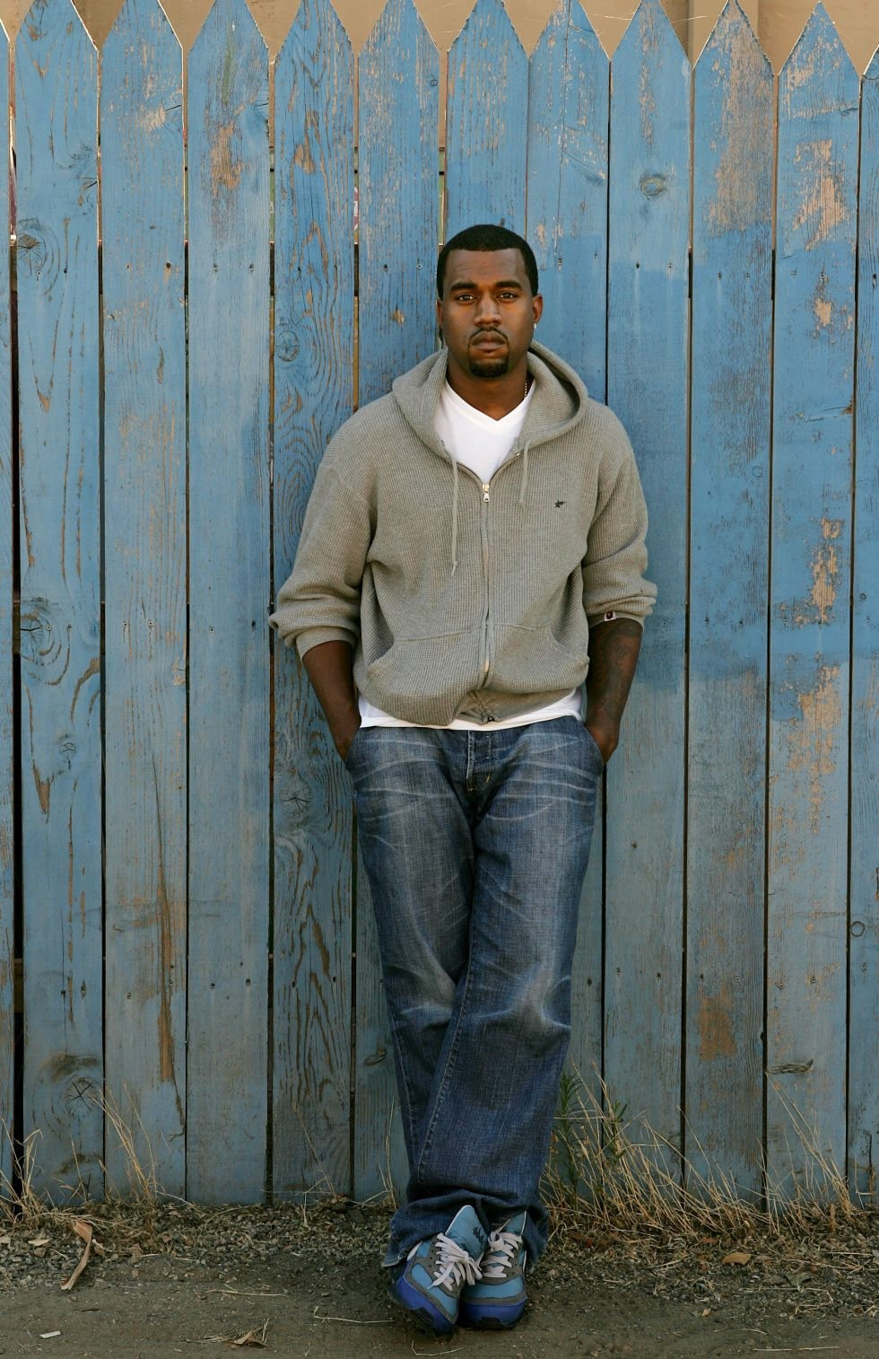 Kanye West in the Stash x Nike Air Max BW