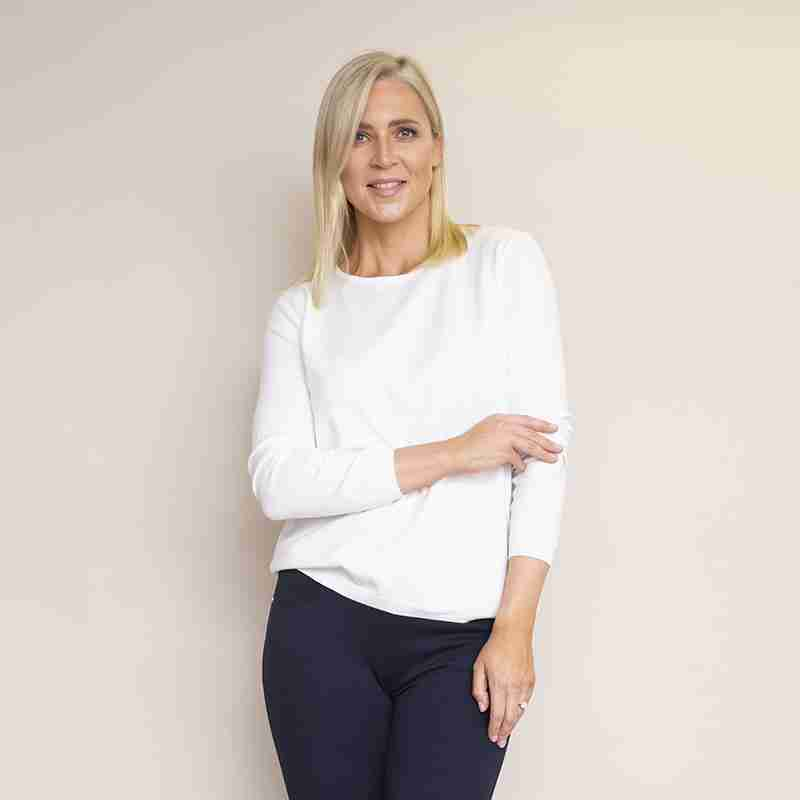 Sonia Round Neck Jumper(White)