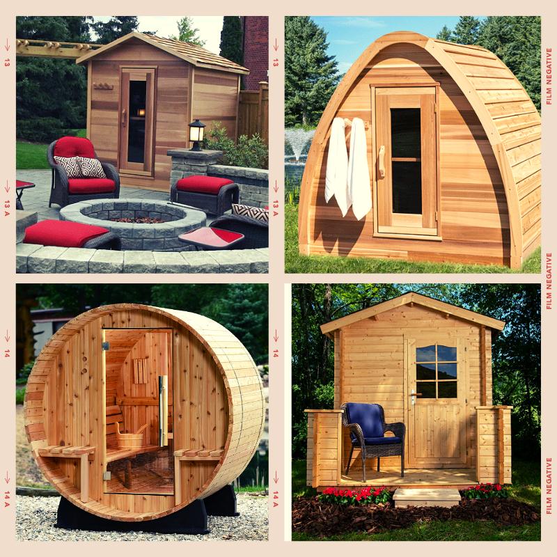 Different types of sauna