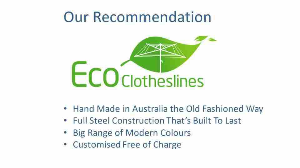 eco clotheslines are the recommended clothesline for 1.1m wall size