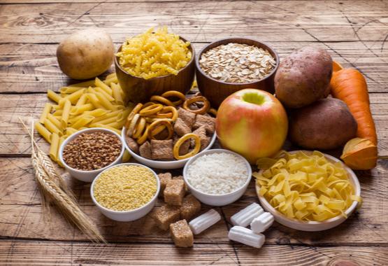 Verschillende soorten koolhydraten.