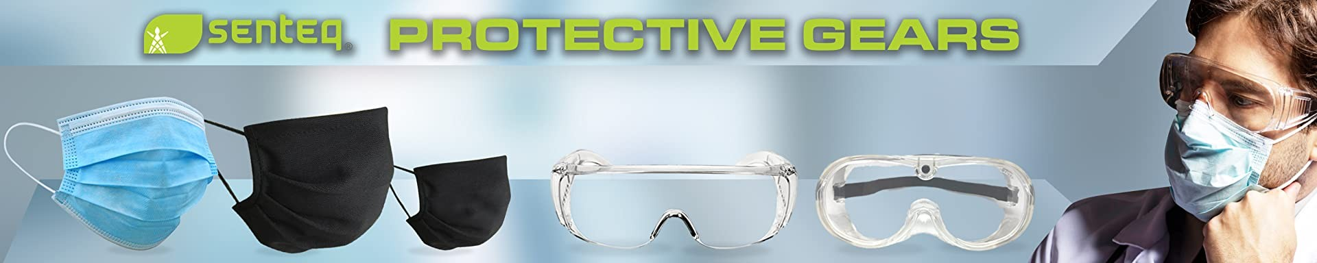Safety Goggles - Lab Glasses - Medical Face Protection - Clear Lens Anti-Splash - Dust Proof Wearable Eyeglasses mask kid Disposable General Use 3 Ply Face Cover Shield