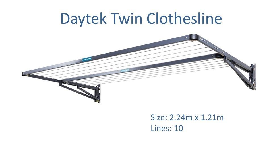 daytek twin 2.2m wide clothesline dimensions