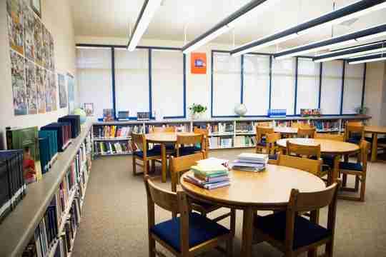 high school reading room