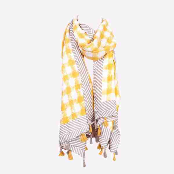 Yellow Pia Scarf Tassel