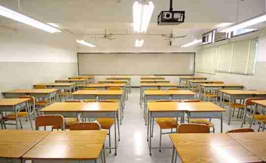 big empty classroom