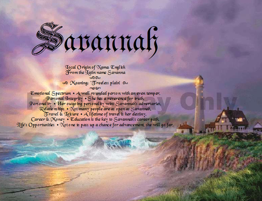 Lighthouse Personalized with name