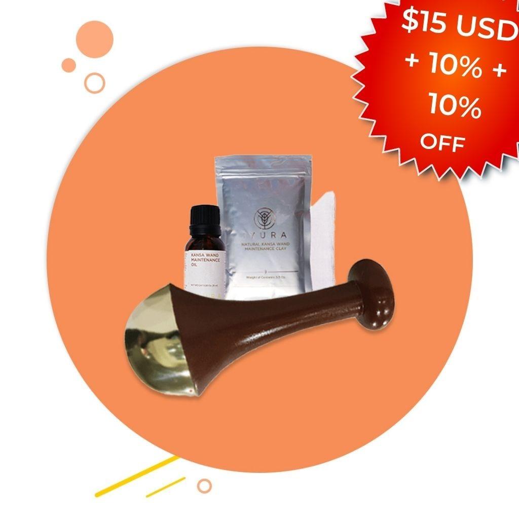 Kansa Face and Body Wand with FREE Maintenance Kit