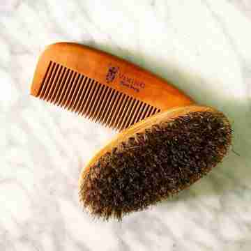 Viking beard brush and comb