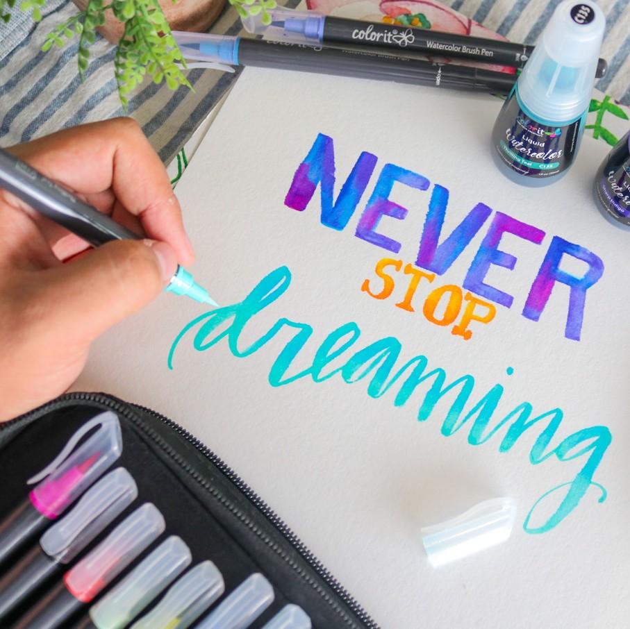 ColorIt Refillable Brush Pens for Handlettering