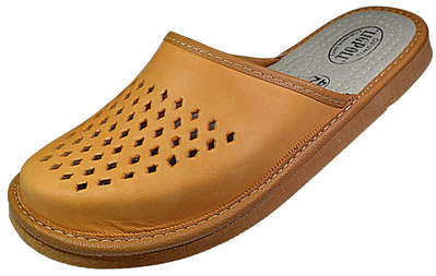 Deacon mens Leather Slippers - Reindeer Leather