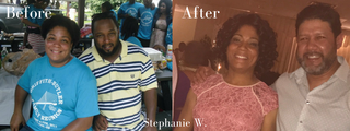 before and after photos of couple