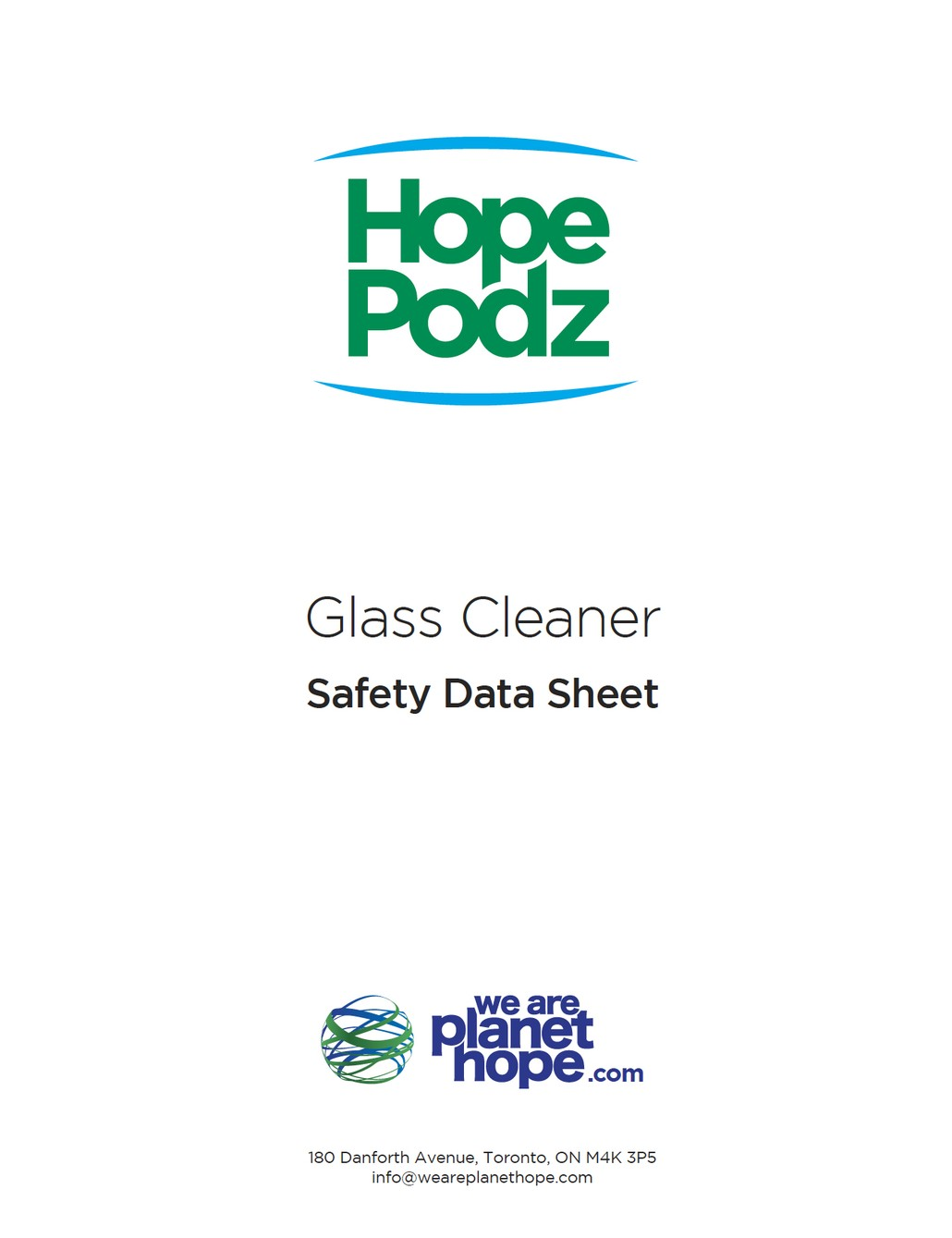 Glass Cleaner Safety Sheet