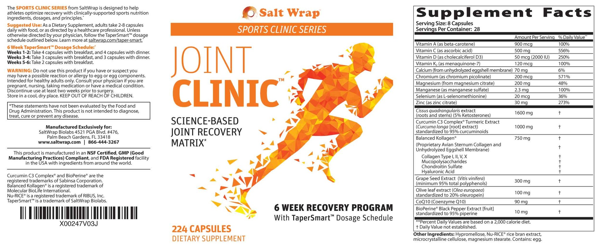 Joint Clinic supplement ingredients