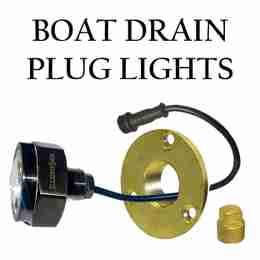 LED Boat drain plug lights