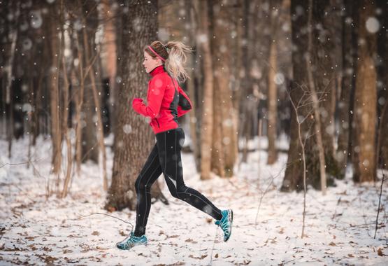 Hardlopen kan ook in de winter.