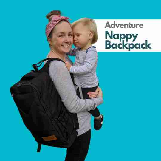 Adventure Nappy Backpack with baby