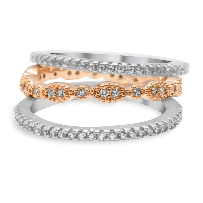 Blush and Bar Juliana 3-ring set