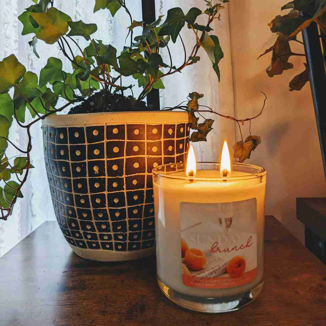sunday brunch candle