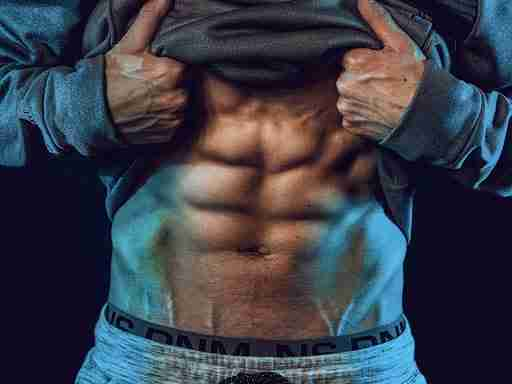 man with 6-pack abs