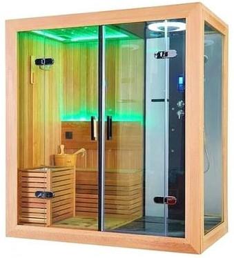 Inside an Indoor Sauna