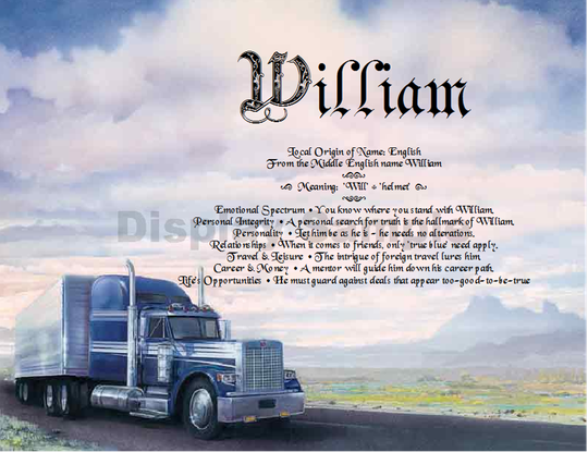 Trucker Truck 18 Wheeler Gift Personalized