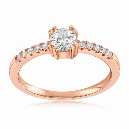 Rose gold Tianna sparkle ring