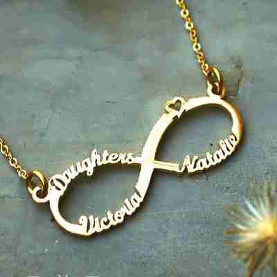 Classic Infinity Name Necklace