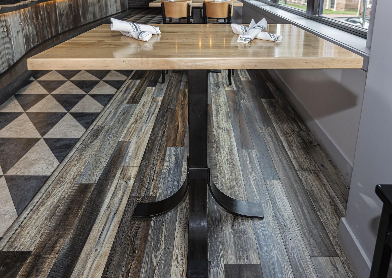 restaurant custom made steel table bases
