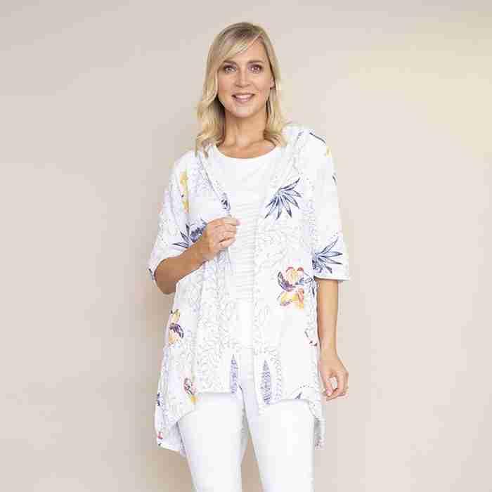 Lily Cotton Hoody Jacket (White)