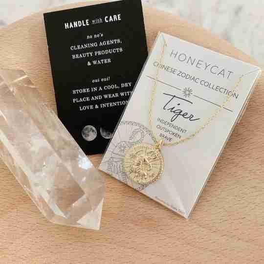 HONEYCAT Zodiac Tiger necklace